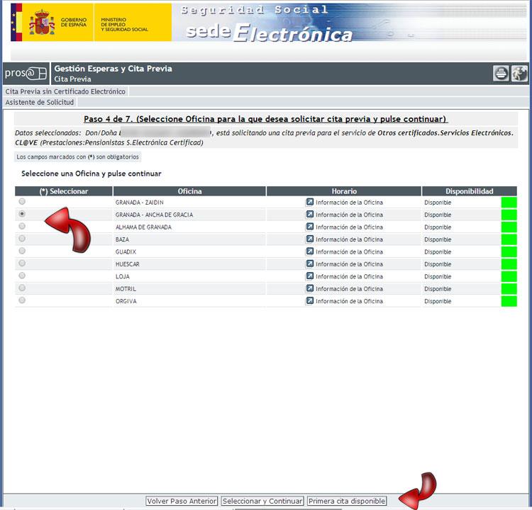 Cita previa para prestaciones malaga creditofletjass for Oficina electronica sepe