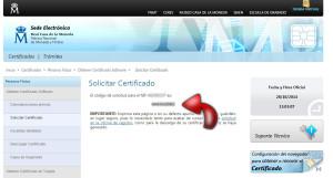 certificado electronico | codigo de solicitud