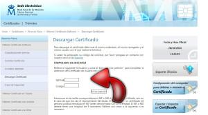 descargar el certificado electronico